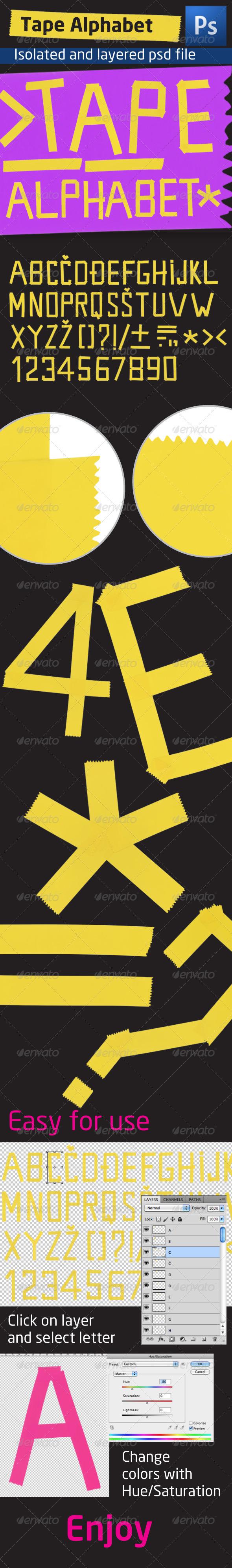 GraphicRiver Tape Alphabet 1352545