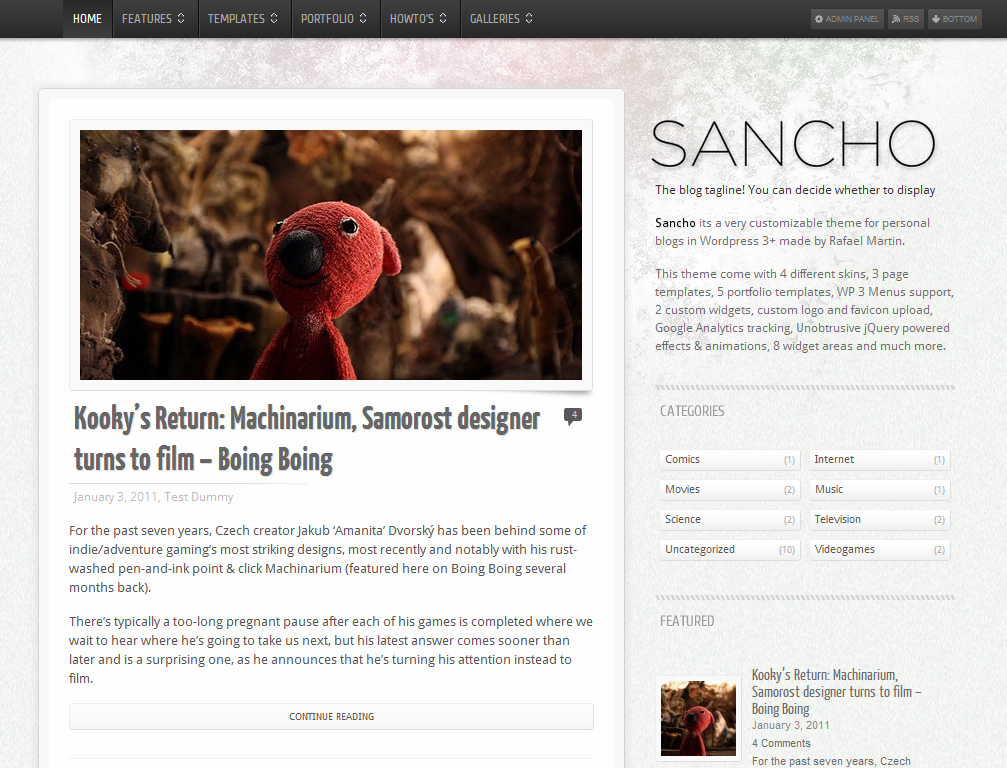 Sancho WP Theme
