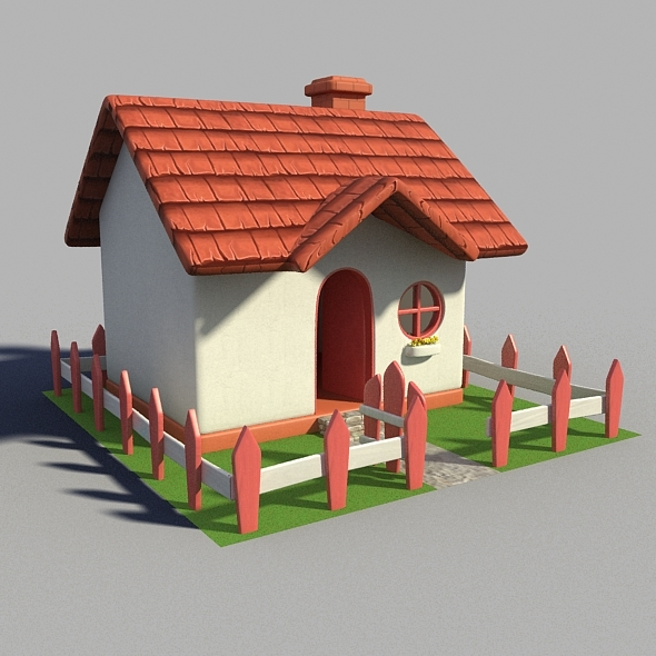 Cartoon house 3d model free