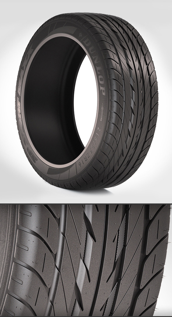 Automotive Tire - 3DOcean Item for Sale