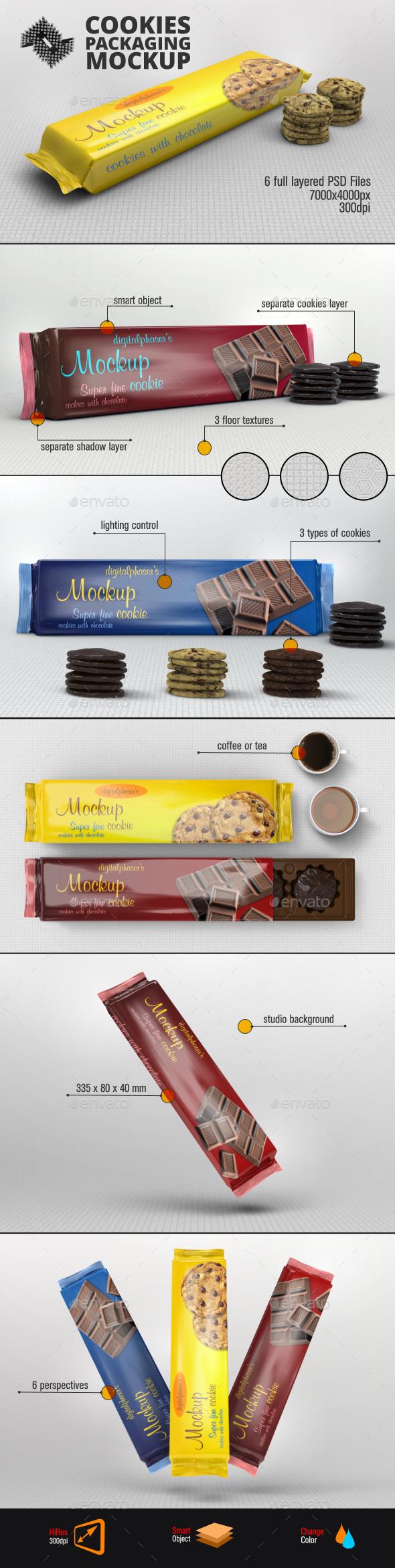 Cookies Foil Packaging Mockup