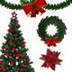 14 Realistic Christmas Decoration Set