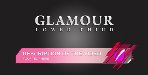 glamour lower thirds