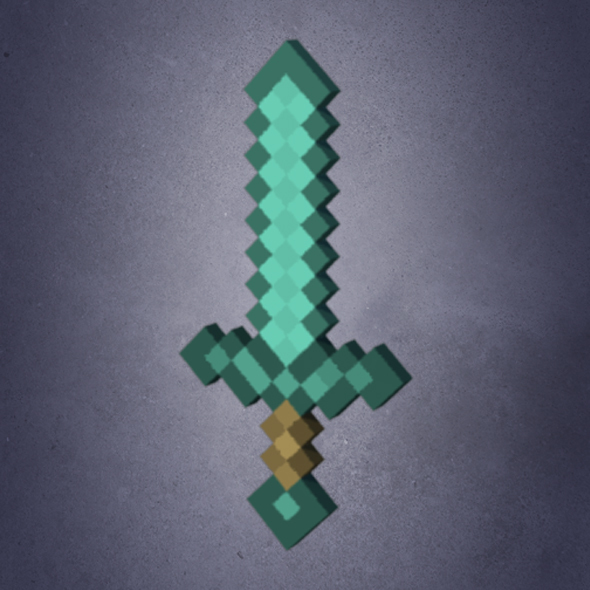 Rigged Minecraft Sword - 3DOcean Item for Sale