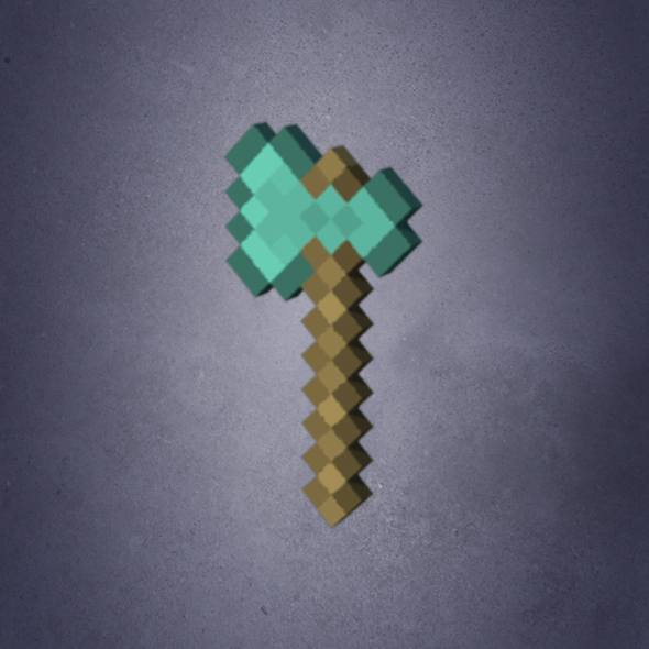 Minecraft Axe - 3DOcean Item for Sale