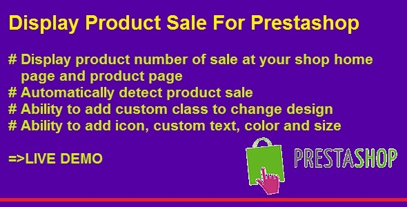 Display Product Number of Sale For Prestashop