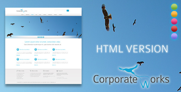 Corporate Works - HTML Version - Creative Site Templates