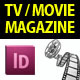 TV / Movie Magazine InDesign Template - GraphicRiver Item for Sale