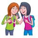 Teen Girls using Their Cell Phones