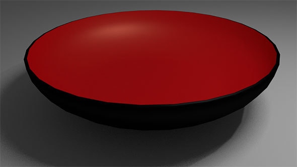 Black Bowl with Red Interior - 3DOcean Item for Sale