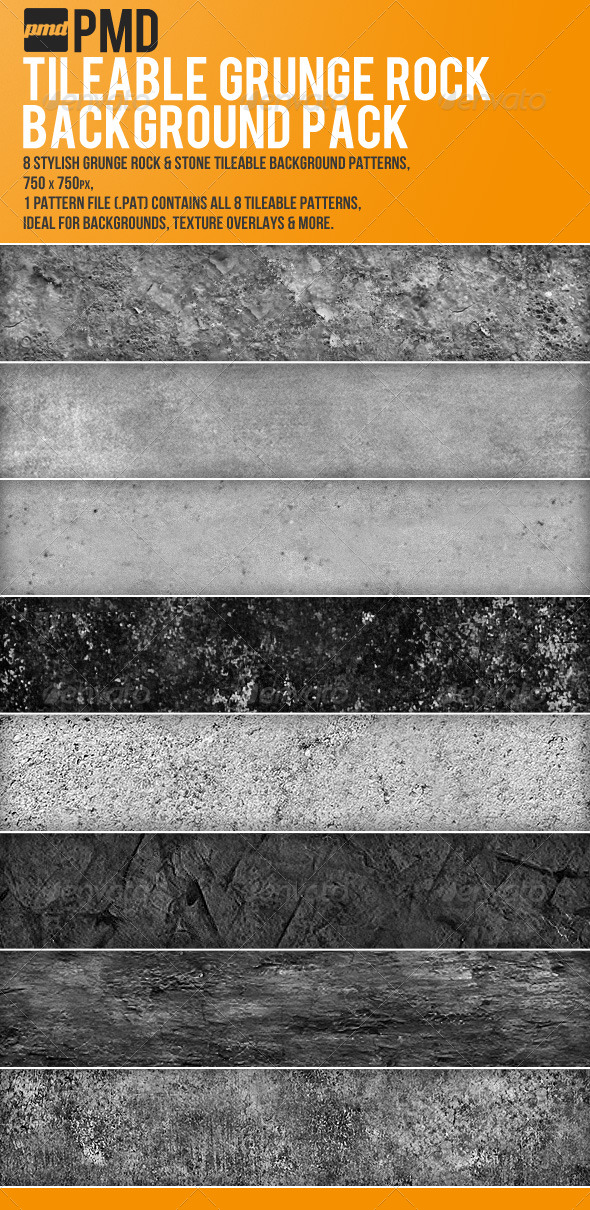 GraphicRiver 8 Tileable Grunge Rock Backgrounds 162007