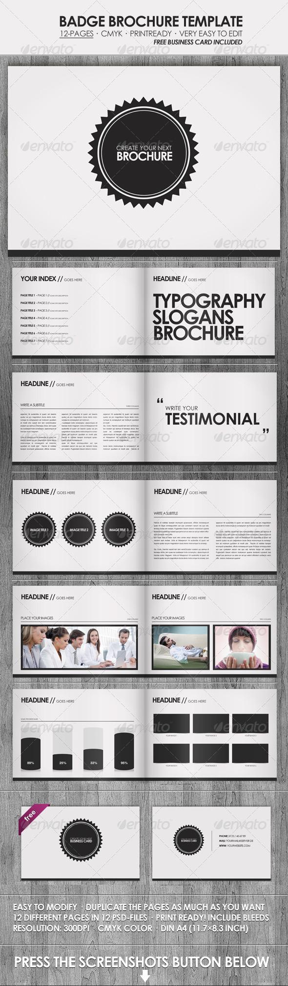 Badge - Brochure / Presentation Template - Corporate Brochures