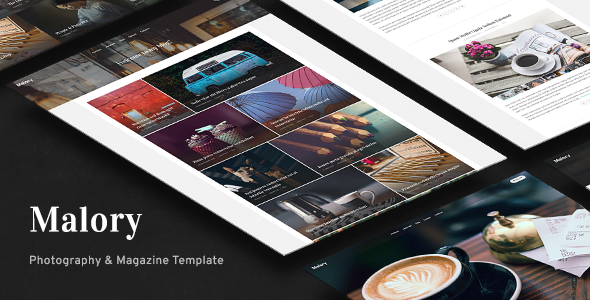 Malory - Photography & Magazine Site Template