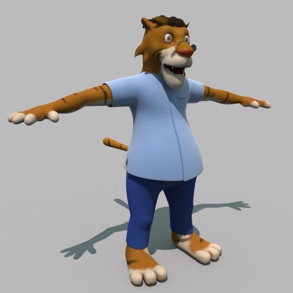 Cartoon Tiger - 3DOcean Item for Sale