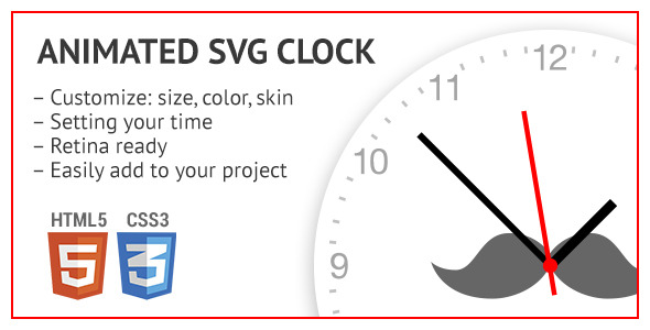 Animated SVG clock (Animated SVGs) images