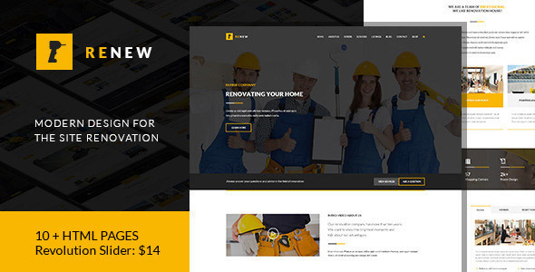 Renew - Renovation, Repair & Construction HTML