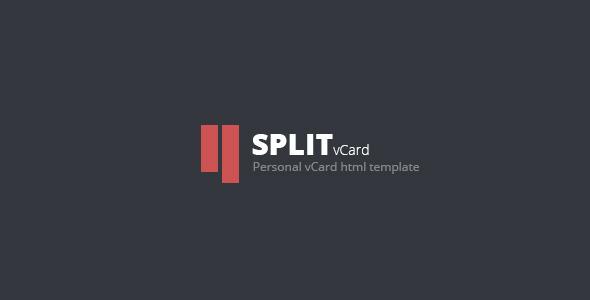 7. Split : Personal CV/Vcard Template