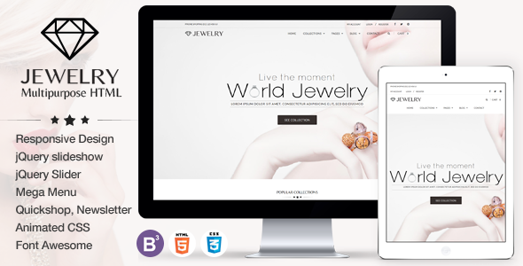 Jewelry - eCommerce Responsive HTML5 Template