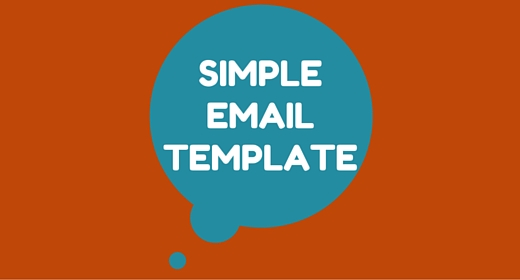 Simple Email Template
