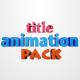 3D Title Animation Pack V1.0