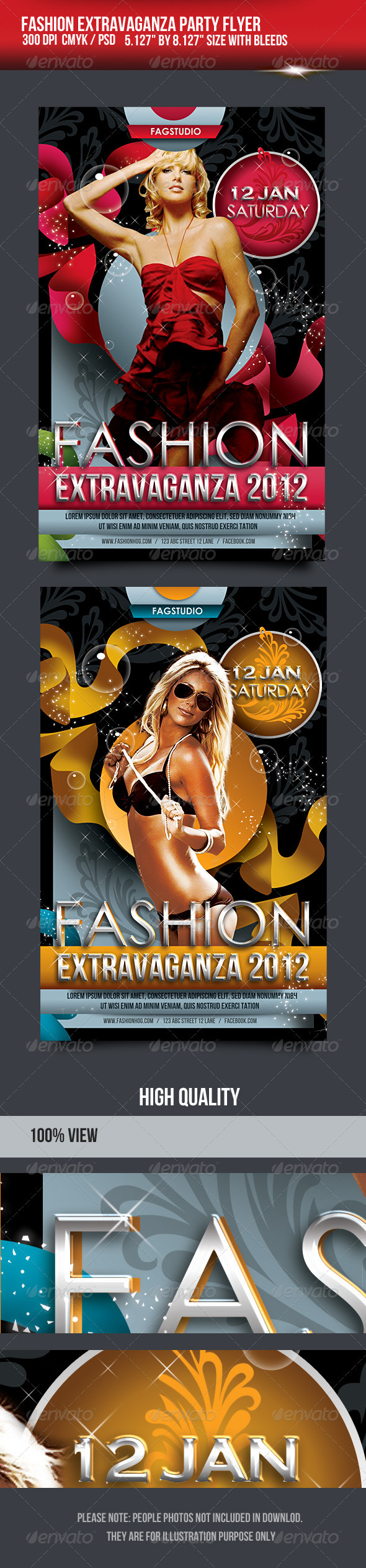 Fashion Extravaganza Party Flyer - Miscellaneous Events