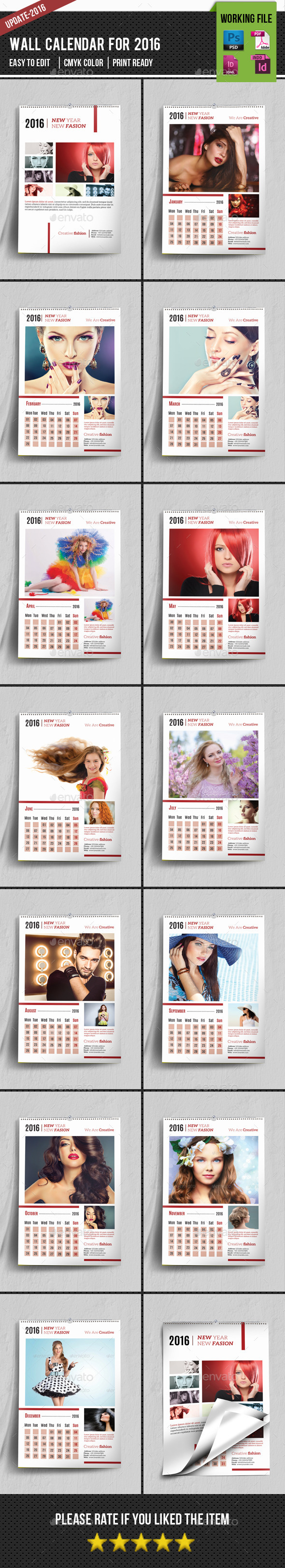 Wall Calendar 2016-V01