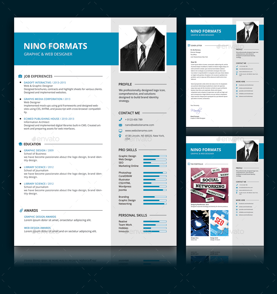 resume cv by diephay graphicriver