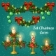 Candlesticks and Garlands for Christmas