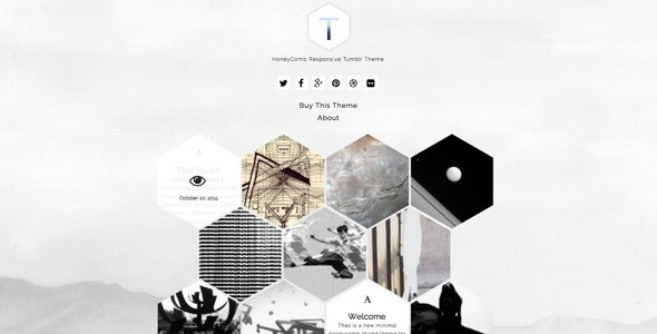 Thex – HoneyComb Responsive Tumblr Theme  (Tumblr) images