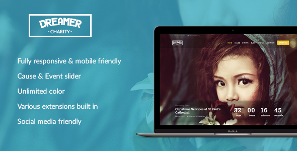 Image of Dreamer - Multipurpose Charity Joomla Template