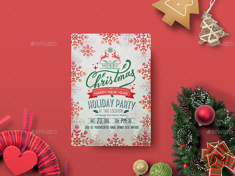 Holiday Party Flyer Template by wutip2 – Holiday Party Flyer Template