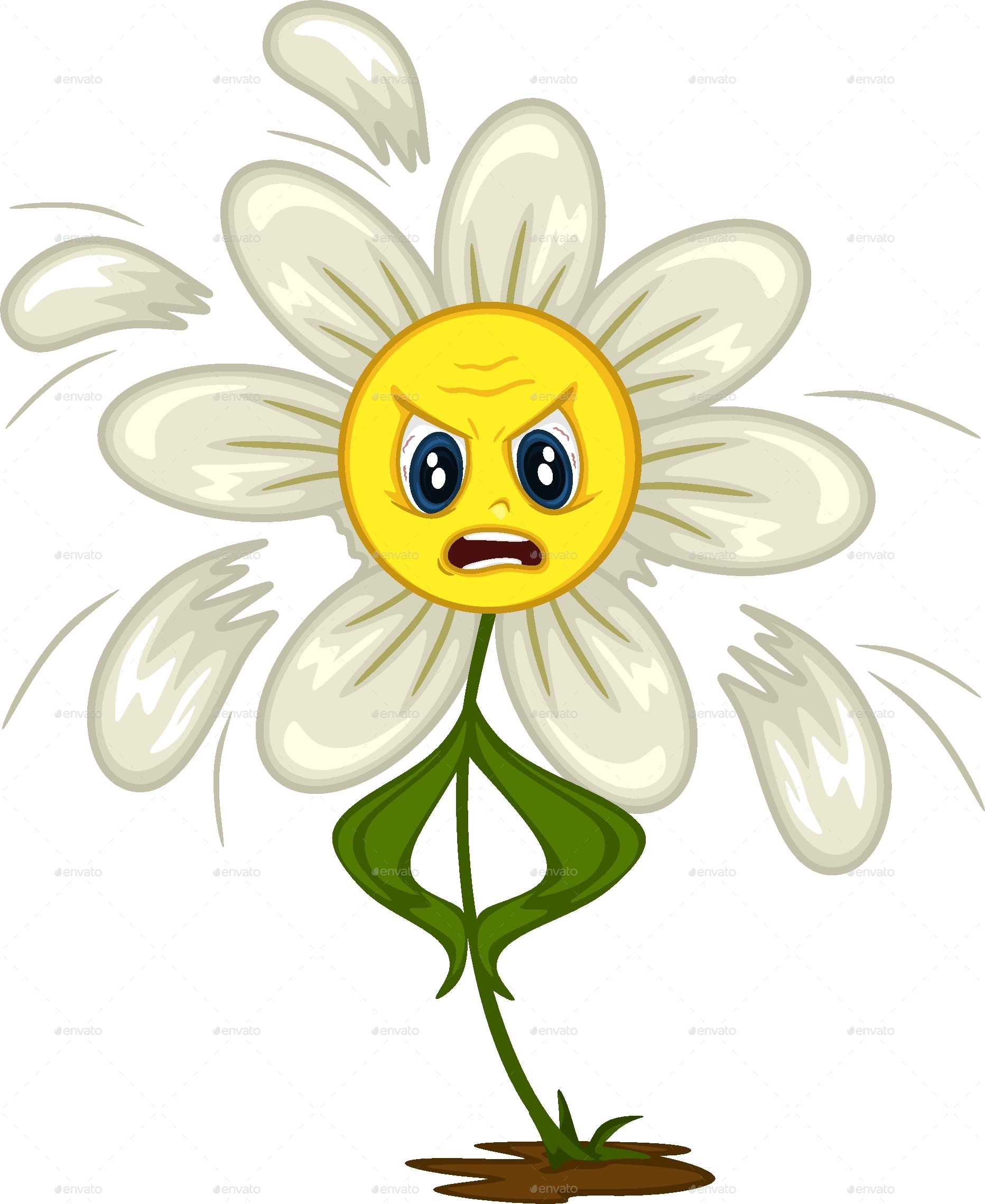 cartoon daisy stickers for different situations by