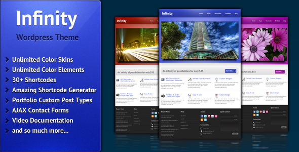 Infinity - Business & Portfolio Theme - Presentation Infinity Wordpress Theme