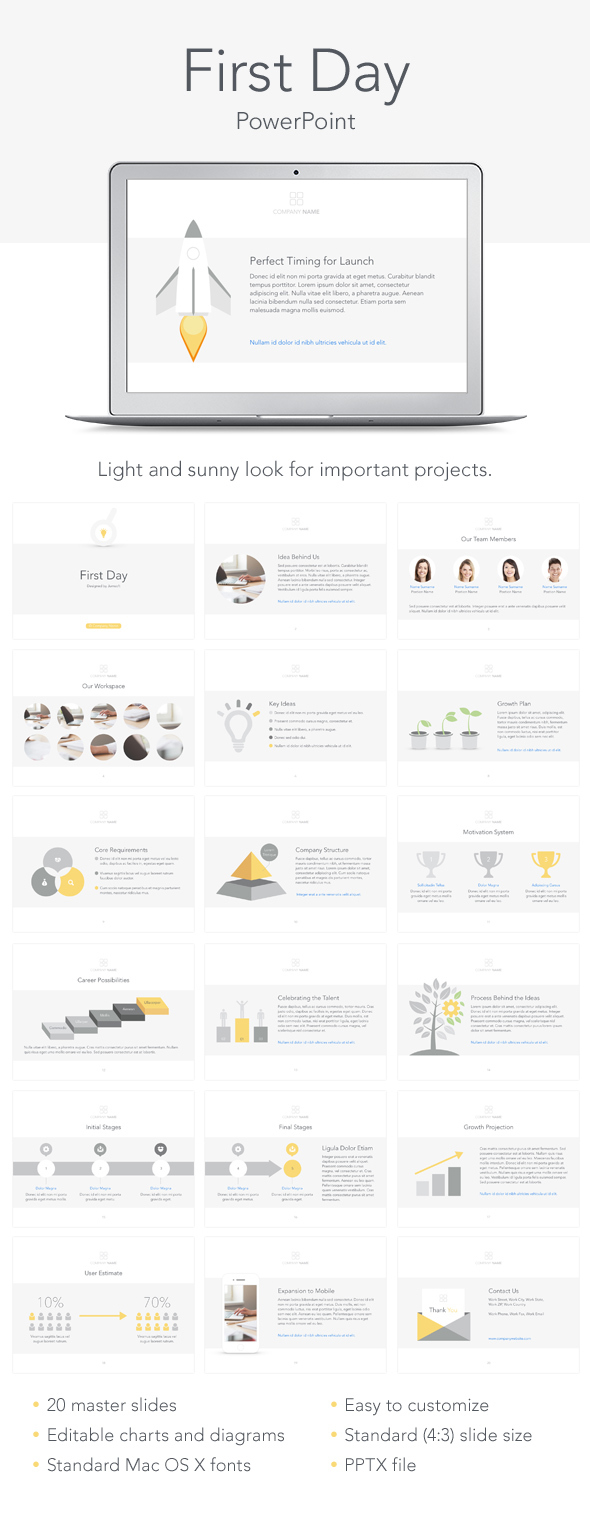 First Day PowerPoint Template (PowerPoint Templates)