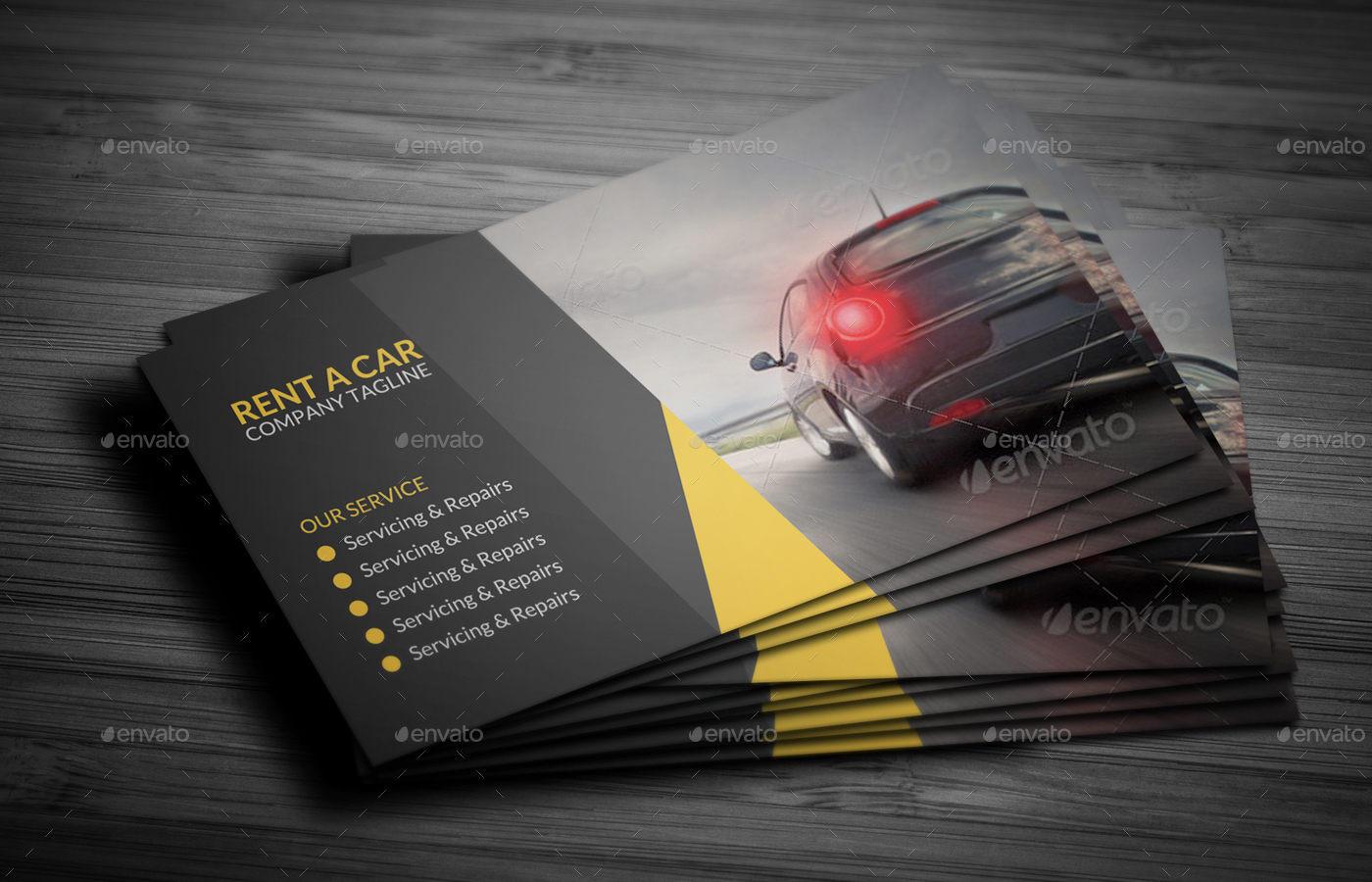 Car Wash Business Card Sample