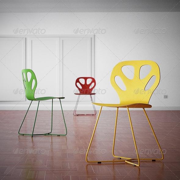 3DOcean Iker Maple Chair 162329