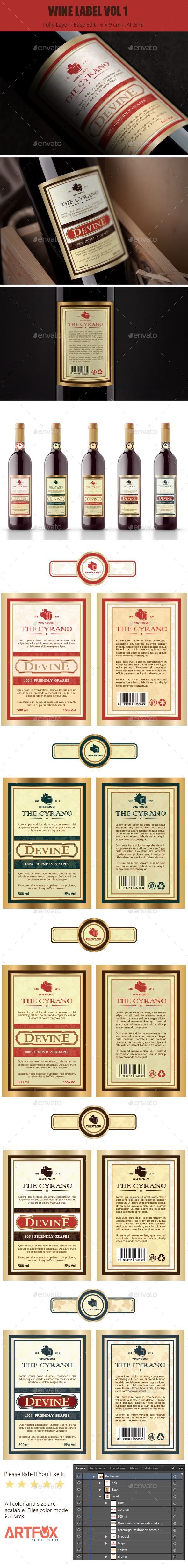 Wine Label Vol 1