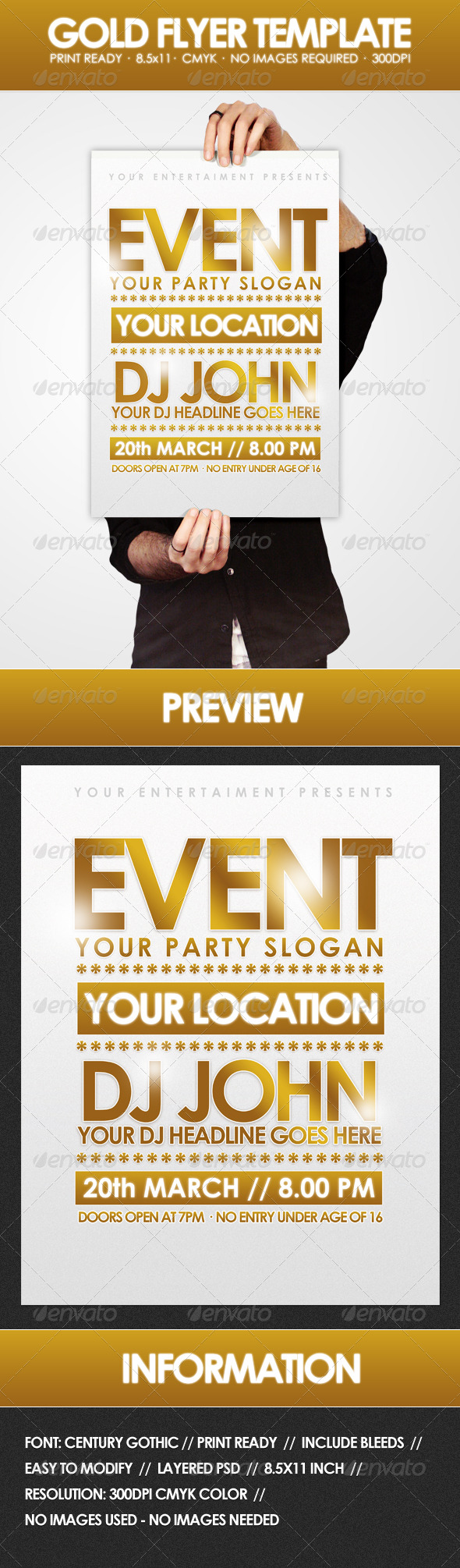 GraphicRiver Gold Flyer Template 162333