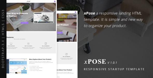 xPose - Responsive Startup Landing Page
