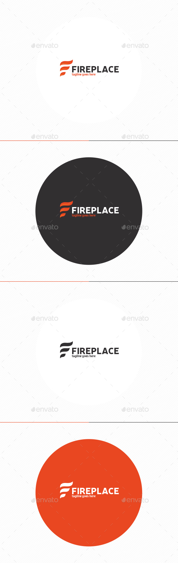 Fire Place Logo • Letter F