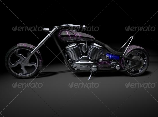 Lightning Custom Chopper - 3DOcean Item for Sale