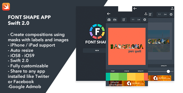 Font Shape iOS Swift 2.0 App - CodeCanyon Item for Sale