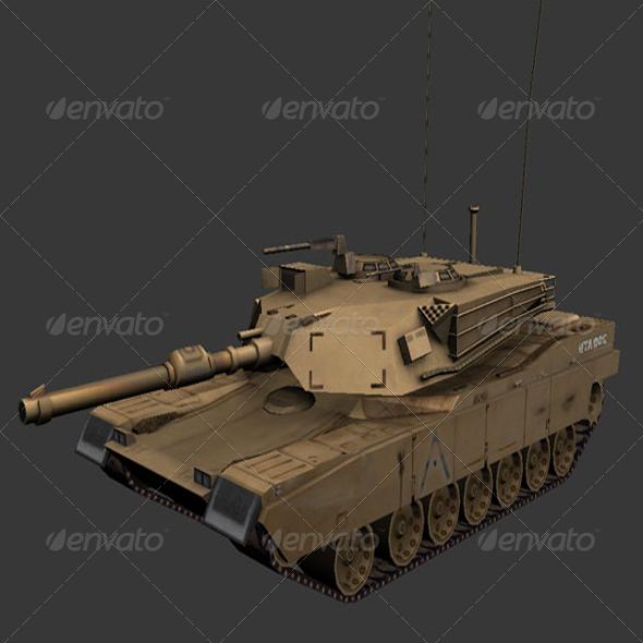 3DOcean M1 Abrams Tank 162368