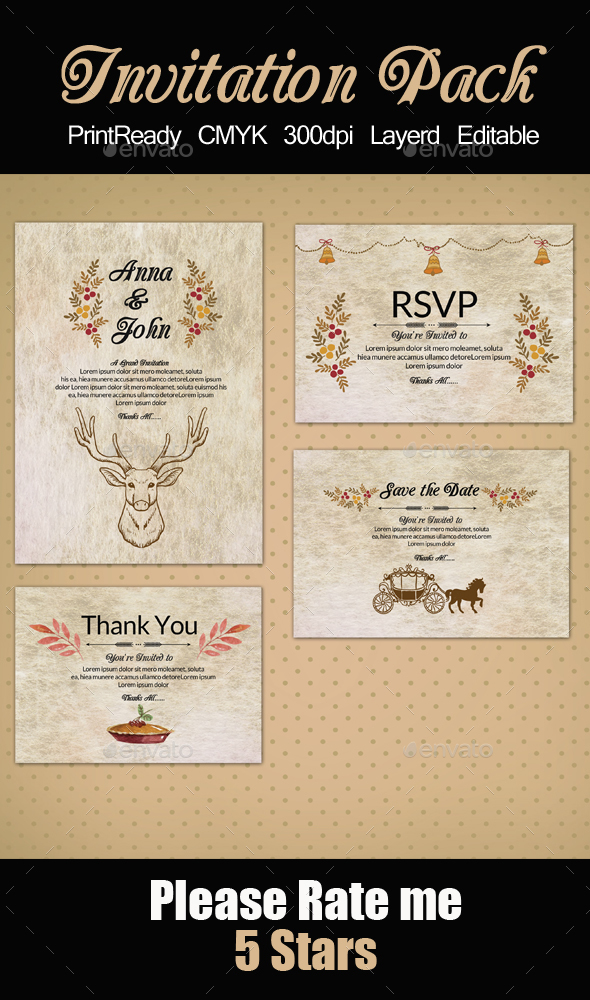 Rusty Invitation Pack