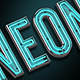 Neon typeface