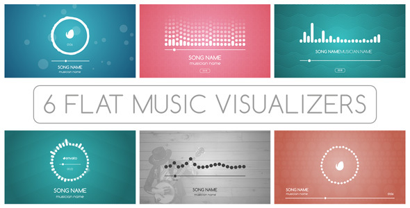 flat music visualizer after effects template videohive 13572459 ae templates videohive. Black Bedroom Furniture Sets. Home Design Ideas