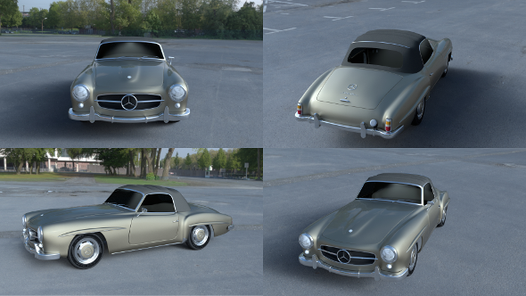 Mercedes 190SL Soft Top - 3DOcean Item for Sale