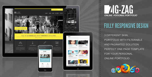 Zig Zag - Responsive WordPress Template - Zig Zag Responsive WordPress Template