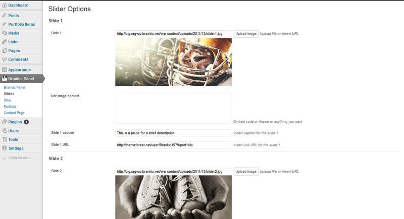 Zig Zag - Responsive WordPress Template - Brankic Panel - Slider options