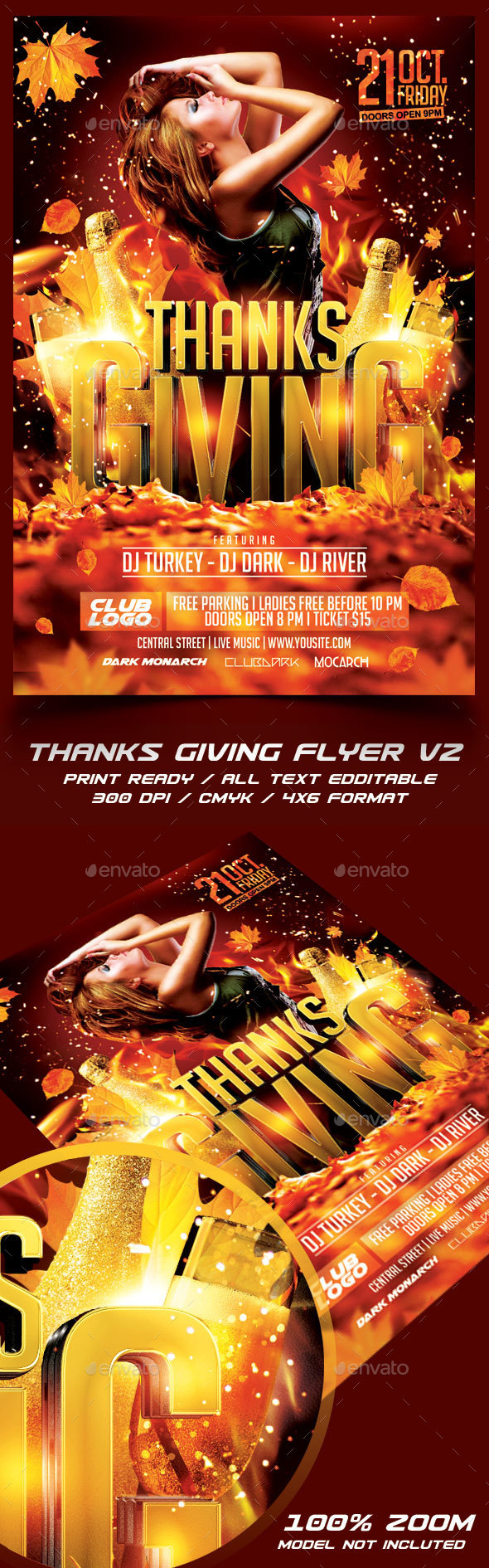 Thanksgiving Party Flyer Template V2